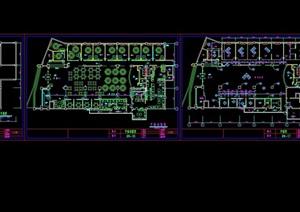某酒店餐廳空間室內設計cad施工圖