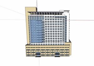 现代风格详细的医院医疗建筑设计SU(草图大师)模型