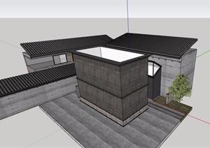 現代風格廁所建筑詳細設計SU(草圖大師)模型