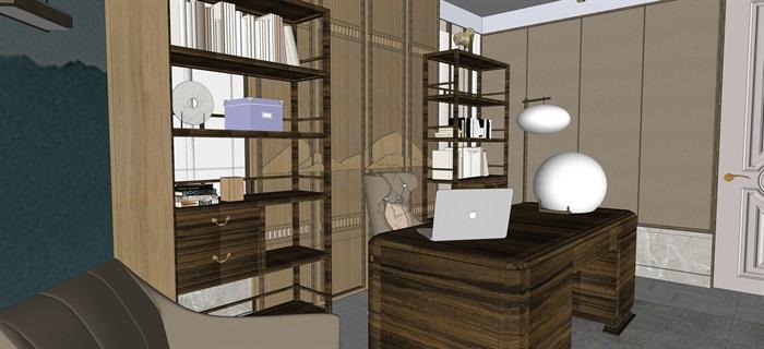 新中式室內設計素材su模型資料包(9)