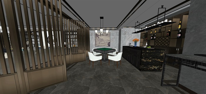 新中式室內設計素材su模型資料包(14)