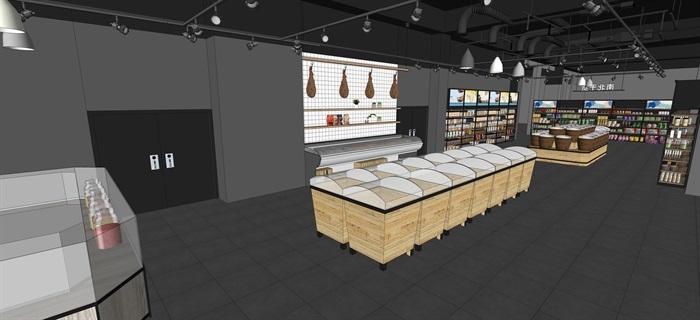 工業風設計超市貨架貨物擺件產品等(內含三套工業風超市設計)SU模型(10)
