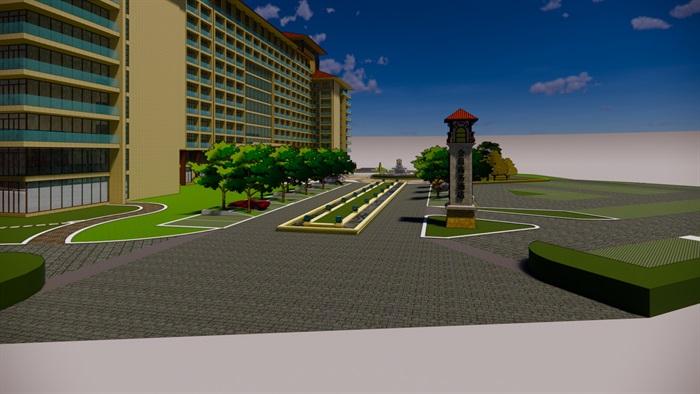 商务酒店水景详图(5)