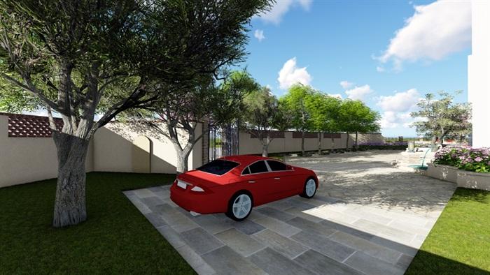 别墅庭院会所欧式景观设计su模型素材资料(5)