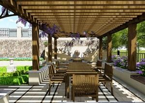 歐式別墅庭院景觀設計花園設計2su模型素材資料