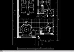 現代詳細的完整別墅室內空間裝飾設計cad施工圖