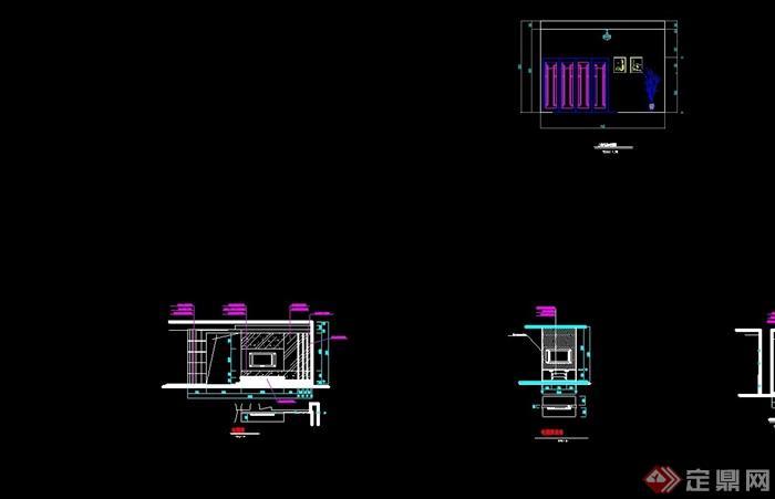 獨特現代風格完整別墅室內空間裝飾設計cad施工圖