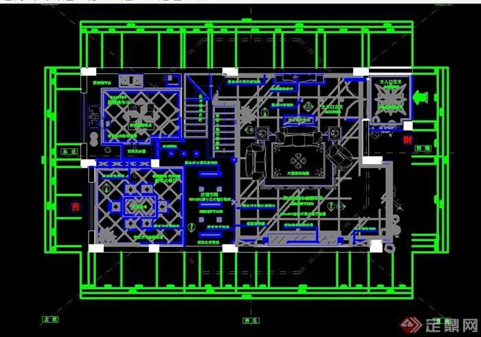 住宅別墅室內空間詳細設計cad施工圖