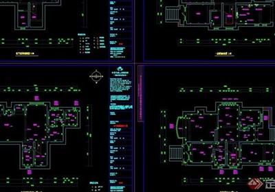 歐式室內住宅別墅空間裝飾詳細設計cad施工圖