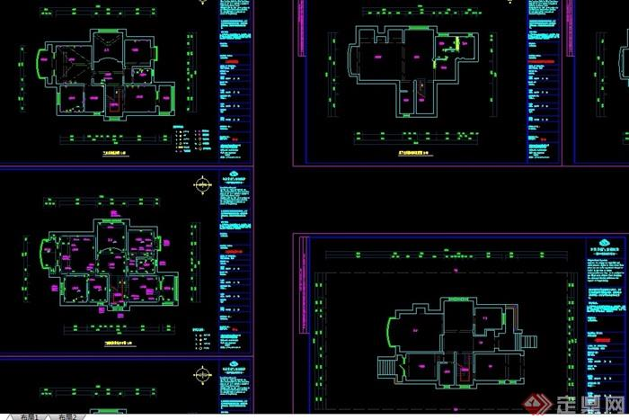 欧式室内住宅别墅空间装饰详细设计cad施工图