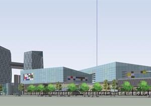 完整的詳細商業辦公建筑設計SU(草圖大師)模型
