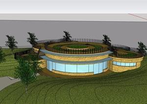 现代风格旅游区详细完整建筑设计SU(草图大师)模型
