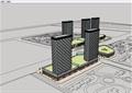 現代高層詳細的商業辦公建筑設計su模型