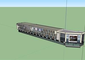 现代风格完整的商场建筑设计SU(草图大师)模型