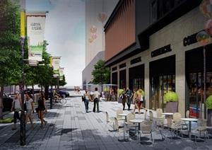 小区商业综合体 亭子 廊架 花雕塑 架空层 现代 精品模型