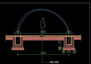 波光跳泉旱喷水景智能互动波光跳泉水景施工图详图
