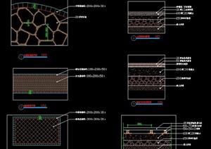 鋪裝及基礎做法施工圖詳圖冰裂紋碎拼瀝青鋪磚石材基礎做法