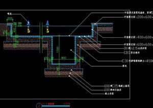 水池水景泵坑施工图详图大样图