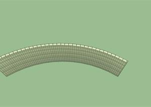 20200128超精细弧形玻璃砖景墙