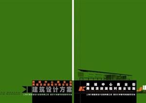 跨塘清剑临时商业设施建筑设计方案