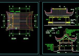 仿古四方亭建筑图------------内容丰富详细,具有很高的学习价值,值得下载