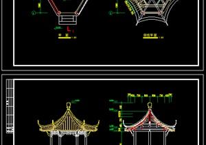 观景亭建筑图纸------------内容丰富详细,具有很高的学习价值,值得下载