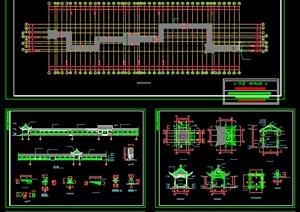 古建长廊建筑施工图------------内容丰富详细,具有很高的学习价值,值得下载