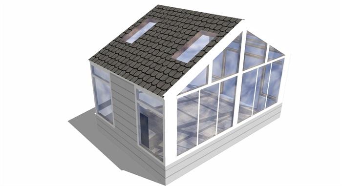 植物棚玻璃房帶天窗-3d.jzsc.net(1)
