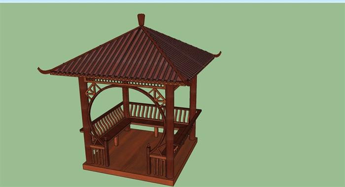 中式小亭子的SU模型-www.52edy.com(3)