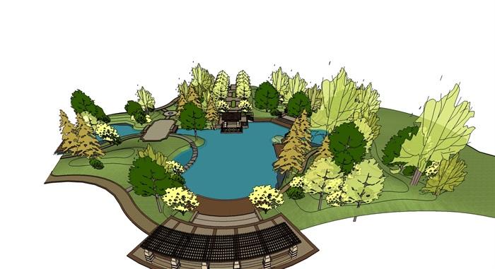 庭院花園模型 (27)(3)