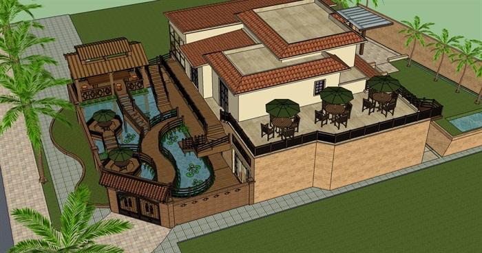 庭院花園模型 (30)(3)