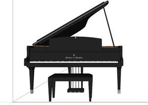 某黑色三腳架高端名牌鋼琴