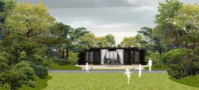 中骏 · 西山天璟 中式示范区 气派大门 景墙 水景 廊架 休息空间 大型水景(3)