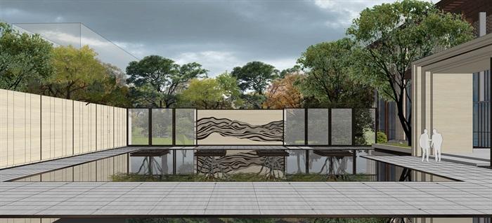 中骏 · 西山天璟 中式示范区 气派大门 景墙 水景 廊架 休息空间 大型水景(5)