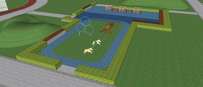 新城樾山公馆 大都会 宠物乐园 现代 水景 廊架 儿童活动场地 架空层(4)