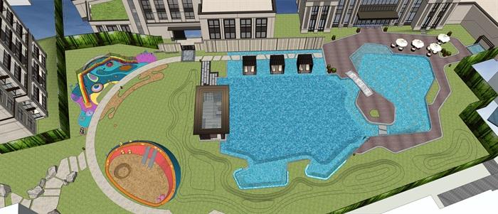 泳池主题空间 儿童区 休息区 售楼部1(5)