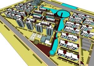 精美的小区规划模型-------内容丰富详细,具有很高的学习价值,值得下载