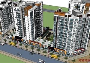 现代风格住宅规划设计精模