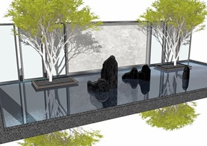 新亚洲山水景墙模型5 (3)-------内容丰富详细,具有很高的学习价值,值得下载