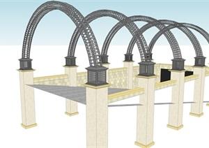 地下车库入口模型-------内容丰富详细,具有很高的学习价值,值得下载