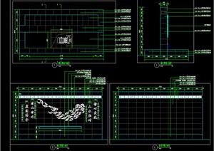 跌水景墙详图全套CAD,可以直接使用
