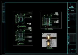 展示区景观中式灯具cad施工图