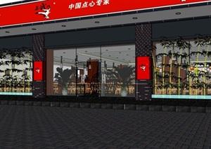 中式室内详细的餐厅建筑设计SU(草图大师)模型