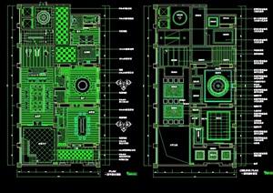 总统套房详细室内设计cad详图
