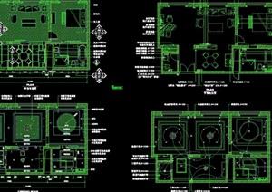 某详细的酒店行政套房设计cad施工详图