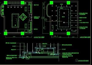 台球室室内空间装饰设计cad施工图