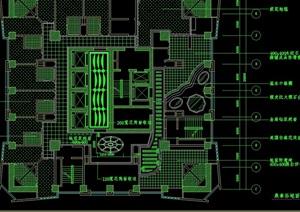某獨特現代桑拿室內空間設計cad施工圖
