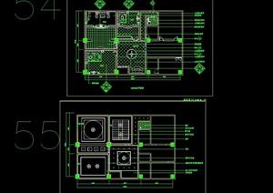 VIP包房详细设计cad施工图