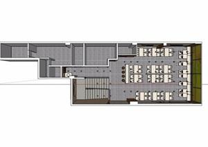 现代餐厅空间室内装饰SU(草图大师)模型