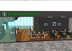 某咖啡厅内部装饰设计SU(草图大师)模型